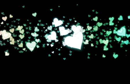 Love Background with Floating Hearts as Art Stock Photo - 9249735