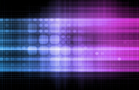Technology Network with a Data Grid System Stock Photo - 9249750