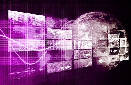 digital content: Internet Concept of the World Wide Web or WWW