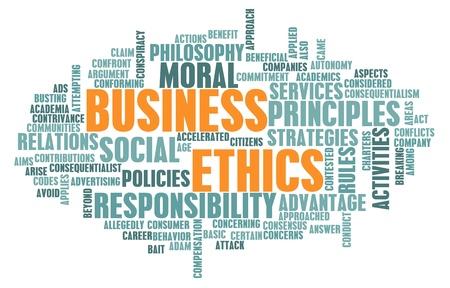 valores morales: �tica empresarial y directrices como un concepto Foto de archivo