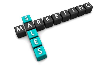 Sales and Marketing Concept in 3d Format Stock Photo - 9300919