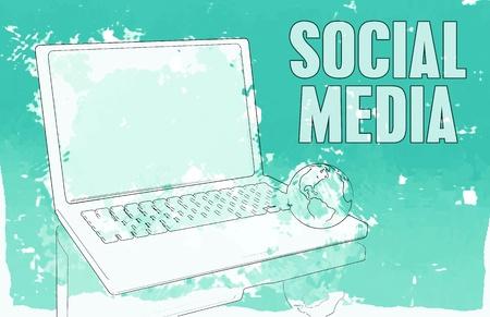 Social Media Interaction Technology on the Web  Standard-Bild