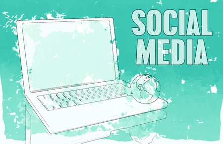 communication concept: Social Media Interaction Technology on the Web  Stock Photo