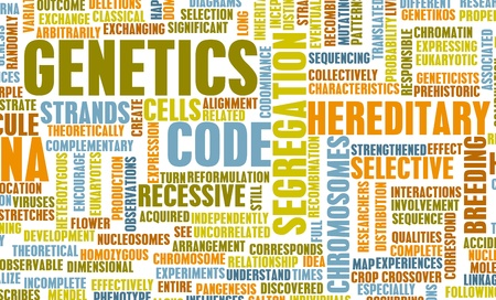 Genetica en de genetische Code Science Concept