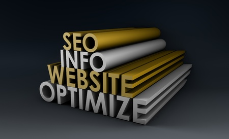 Search Engine Optimization Info on a Website Stock Photo - 9338994