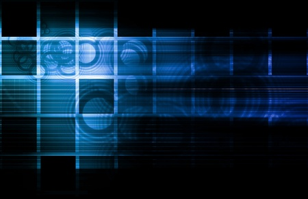 Abstract Glowing Background with a Technology Art