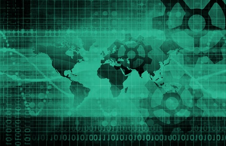 modernization: Industrial Background on a Global Map Scale