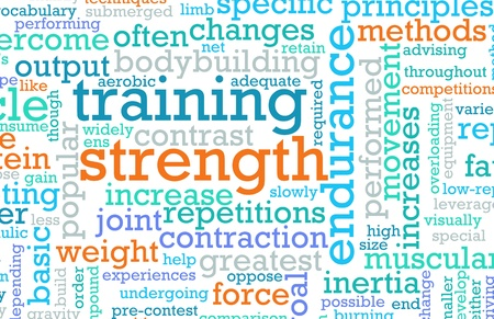 Strength Training Concept as a Workout Fitness Stock Photo - 9338990