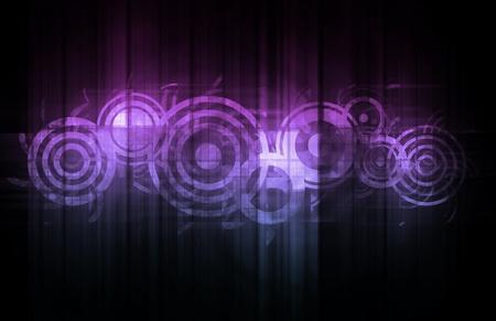 interlinked: Tecnolog�a abstracta con datos vinculados entre s� como arte Foto de archivo