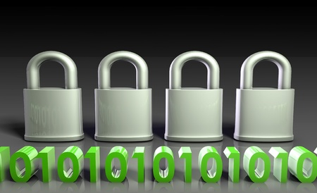 Secure lock for Technology Encryption as Art photo