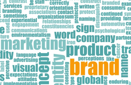 ビジネスで視覚的なアイデンティティを持つ製品ブランド