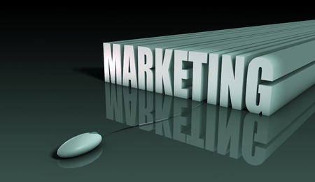 digital marketing: Internet Marketing with Mouse in 3d Abstract
