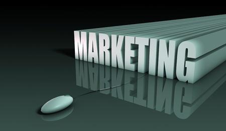 Marketing en Internet con el ratón en resumen 3d Foto de archivo - 9388222