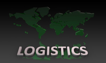 Global Logistics Management Processes As a Art Imagens