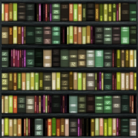 シームレスな本棚テクスチャ背景として