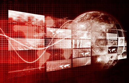 cyber war: Security Network and Monitoring Data on the Web Stock Photo