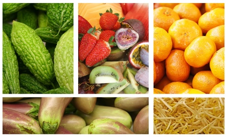 Fruits and Vegetables Variety and Choice Collage Stock Photo - 9400255
