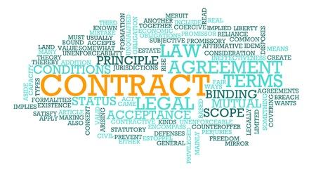 legal document: Contrato de derecho comercial en t�rminos de acuerdo Foto de archivo