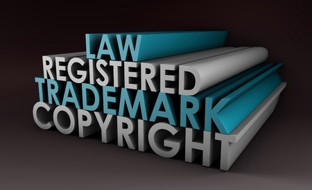 Registered and Copyright Trademark Law in 3d photo