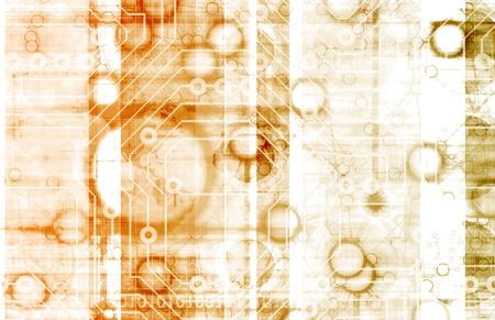 infotech: Information Technology or IT Infotech as a Art Stock Photo