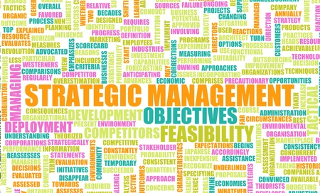 important: Strategic Management and Important Steps as Art Stock Photo