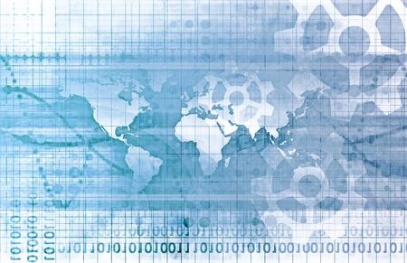telecomm: Concepto de red global como un arte de la ilustraci�n