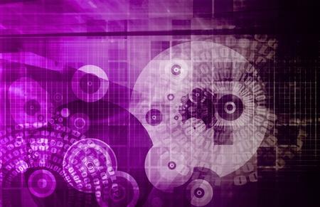 Business Technologies as a Conceptual Tech Art Stock Photo - 9443879