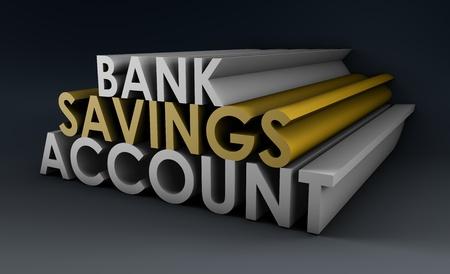 cuenta bancaria: Cuenta de ahorros del Banco como un concepto en 3d Foto de archivo