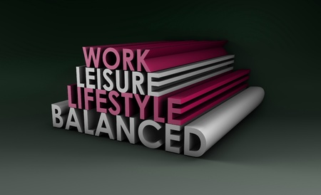 Balanced Lifestyle Concept as a Abstract in 3d Stock Photo