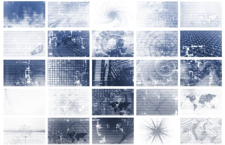 News and Media Overload Tech Abstract Background Stock Photo - 9443887