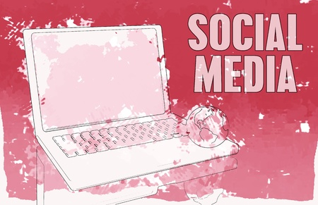Social Media Interaction Technology on the Web Stock Photo - 9443836