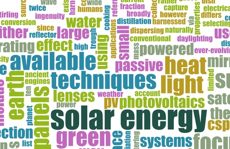 source: Solar Energy as a Renewable Source of Power Stock Photo