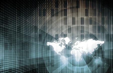 computer service: Global Network-Konzept als Illustration Kunst
