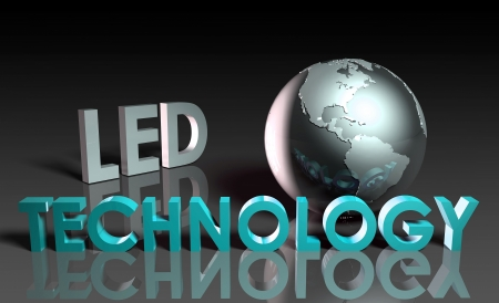 LED Modern Technology Abstract as a Concept Stock Photo - 9443830
