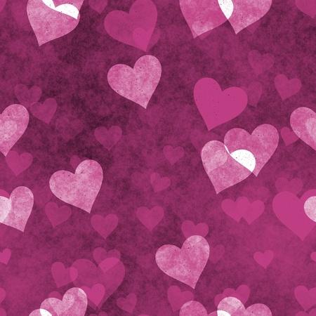 Naadloze harten achtergrond in Grunge liefde textuur