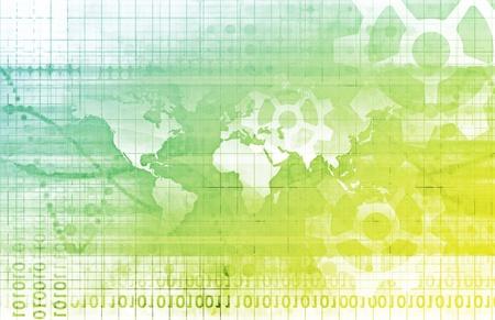 네트워크 개념으로 전 세계적으로 세계와 연결