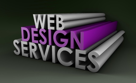 develope: Web Design Services As a Concept in 3d