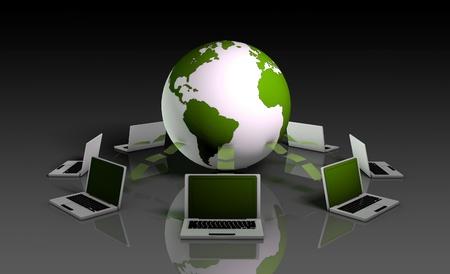 Système de rapports de données en ligne pour les rapports en 3d Banque d'images - 9457139