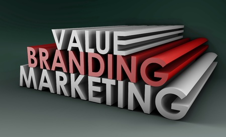 Branding and Marketing of a Product in 3D Format Stock Photo - 9457141