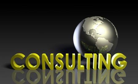 global problem: Servicios de consultor�a a escala mundial en 3d Foto de archivo