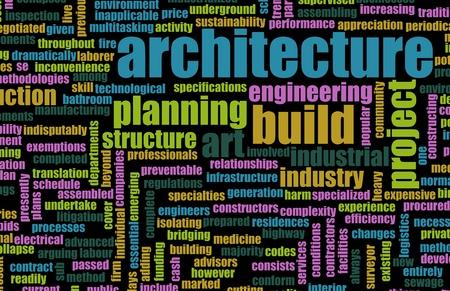 Karriere in der Architektur mit Übersetzungen als Kunst Standard-Bild - 9457173