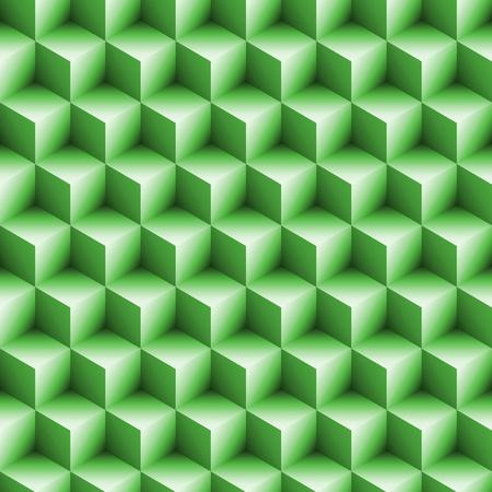 Seamless Blocks Background Art in 3d Cube