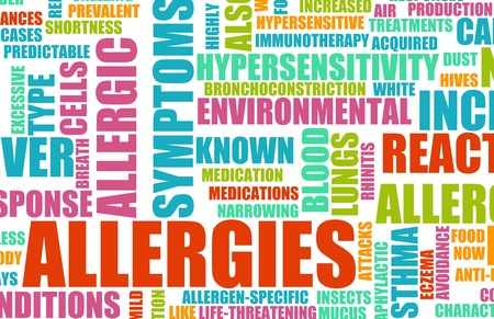 Allergies and the Allergic Symptoms as a Concept Stock Photo - 9457146
