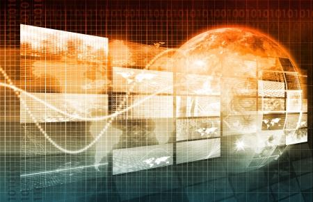 monitoreo: Red de seguridad y vigilancia de datos en la Web Foto de archivo