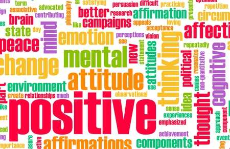 otimismo: Thinking Positive as an Attitude Abstract Concept Banco de Imagens