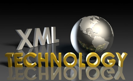 XML Technology Internet Abstract as a Concept Stock Photo - 9478132