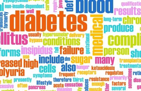 blood sugar: Diabetes as a Medical Illness Condition Concept Stock Photo
