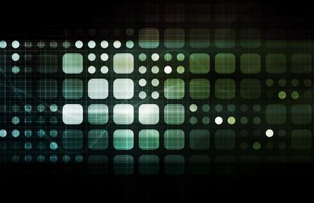 emerging markets: Futuristic Technology as a Next Generation Art Stock Photo