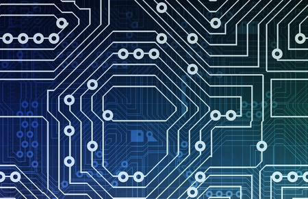 Computer Circuits Background Texture as a Design Stock Photo - 9543776