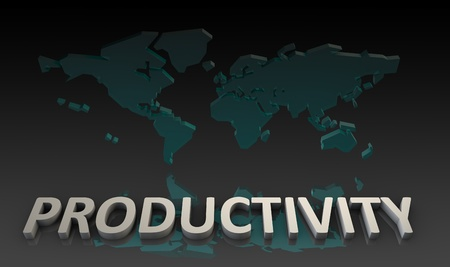 productivity: Productivity and Global Output Worldwide in 3d Stock Photo